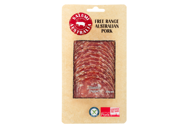 SALAME CLASSICO – FREE RANGE CLASSIC STYLE SALAMI - SLICED 100G