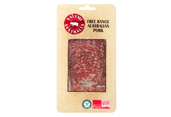 SALAME FINOCCHIONA – FREE RANGE GARLIC & FENNEL INFUSED SALAMI - SLICED 100G